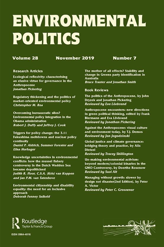Environmental Politics cover