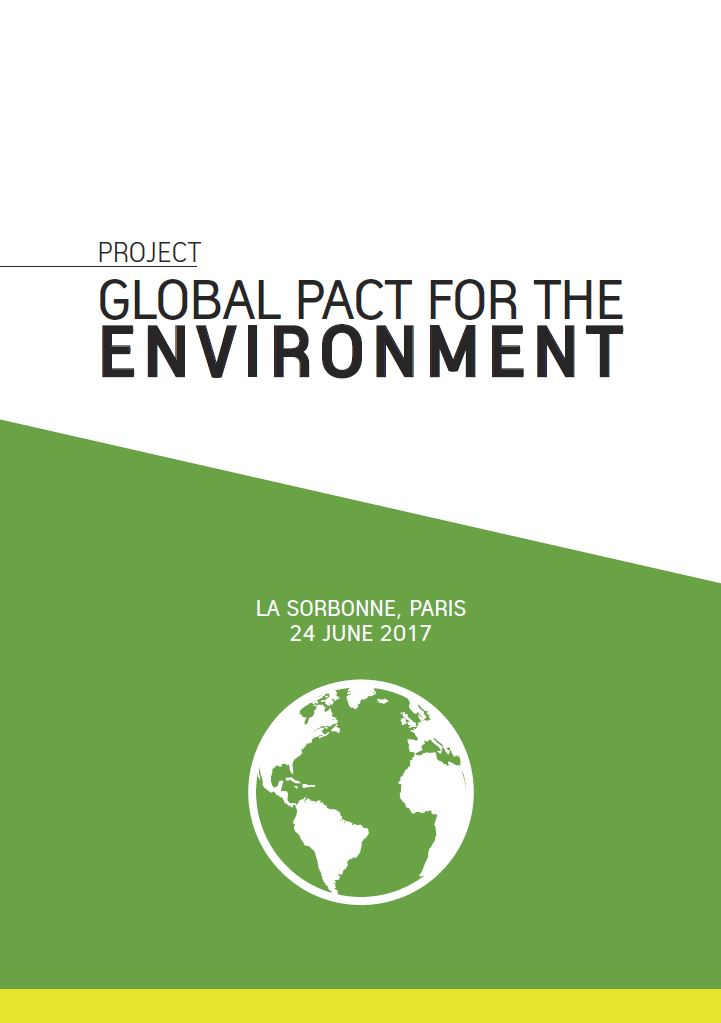 Global Pact for the Environment, draft cover