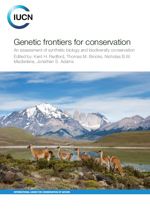 """Cover of """"Genetic frontiers for conservation"""" from the IUCN"""