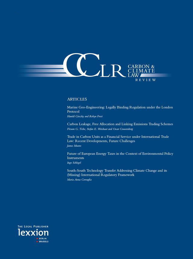 Carbon and Climate Law Review