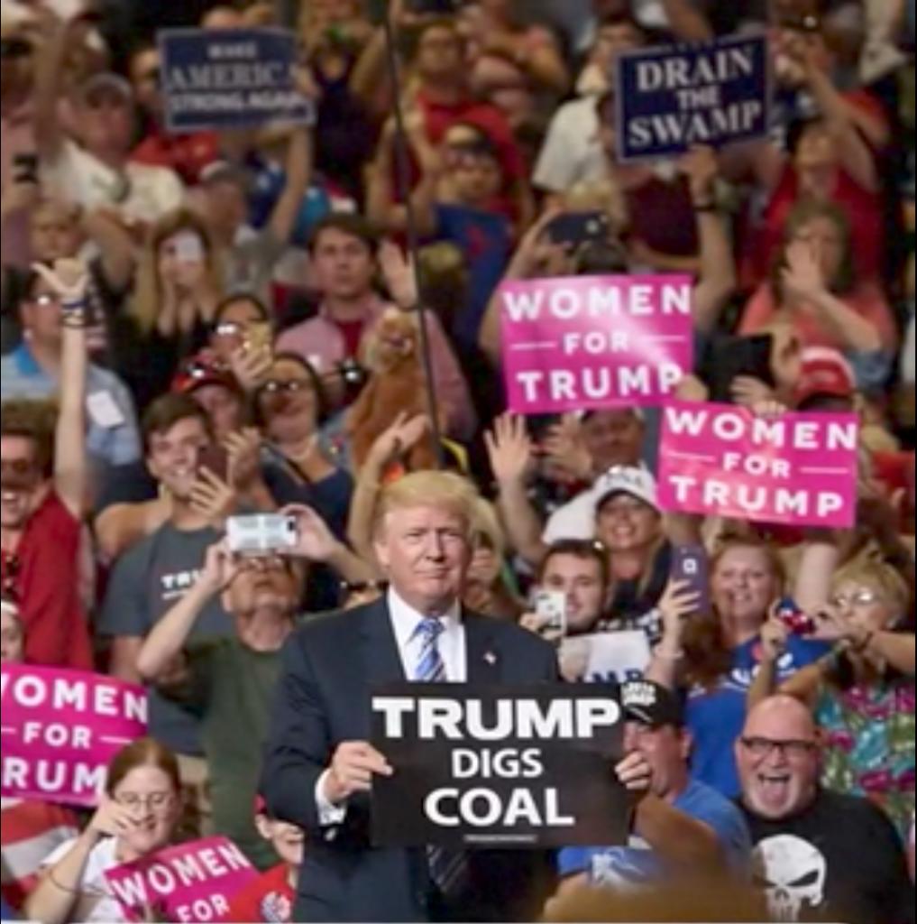 Trump digs coal. Public domain image via Wikicommons