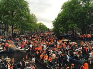 A typical King's Day. Photo by Flickr user darkdiva.