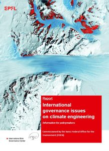 International Governance Issues on Climate Engineering - information for policymakers